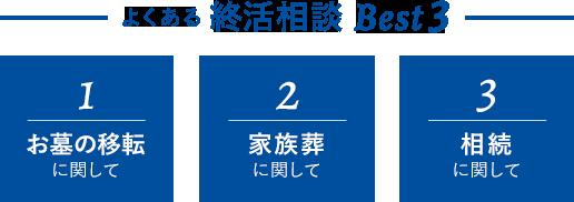 よくある終活相談 Best3